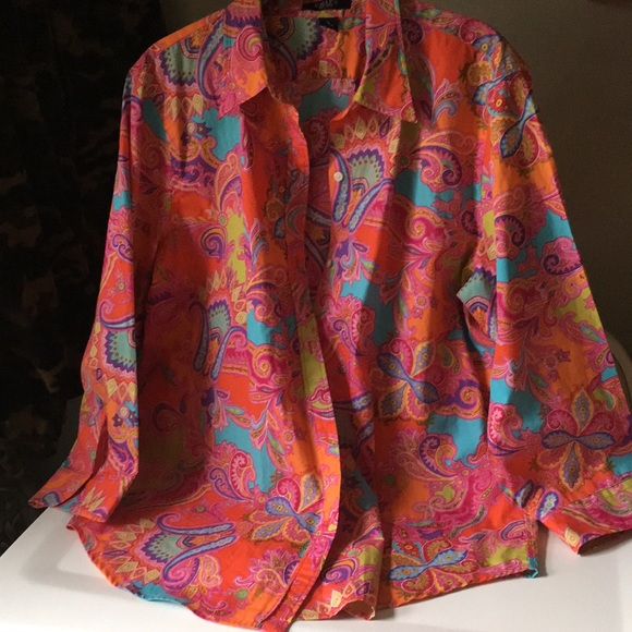 7df88937 Chaps Tops | Paisley Shirt | Poshmark